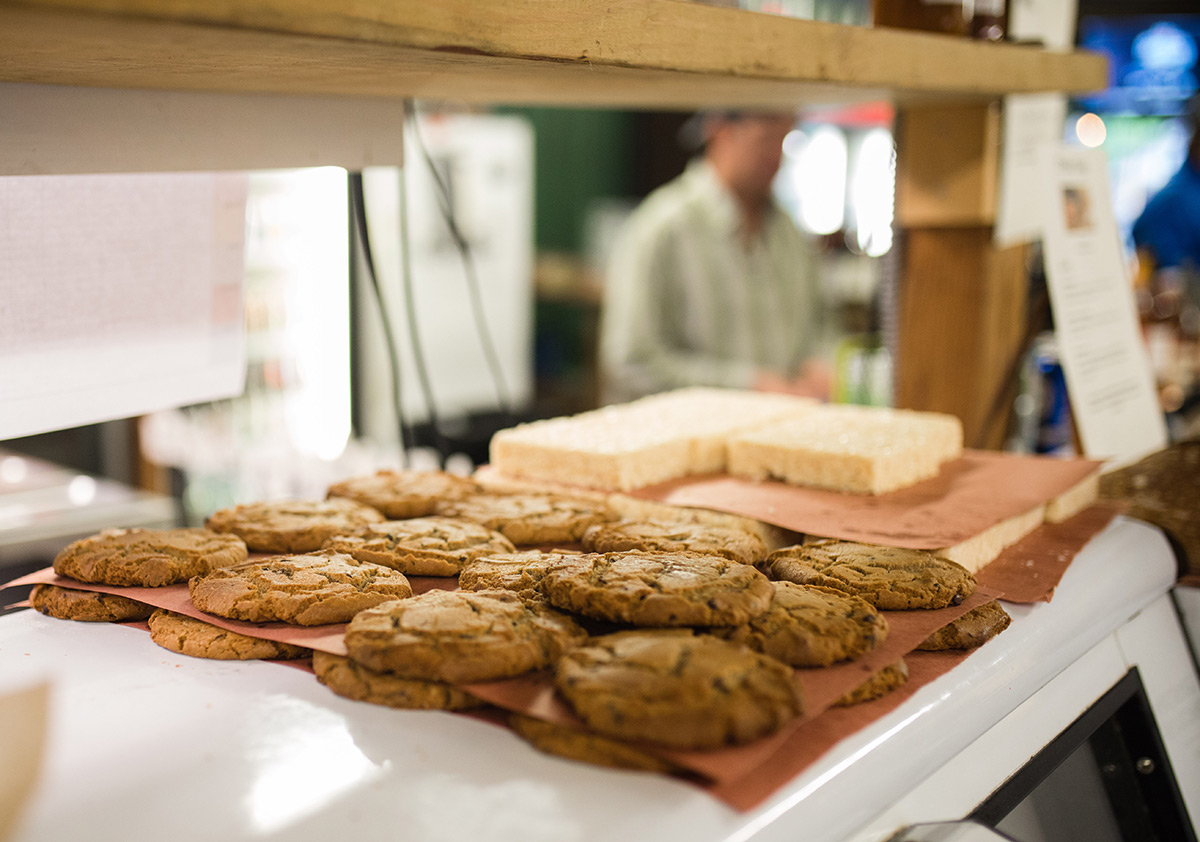 Fresh baked cookies in Hye TX at the Hye Market